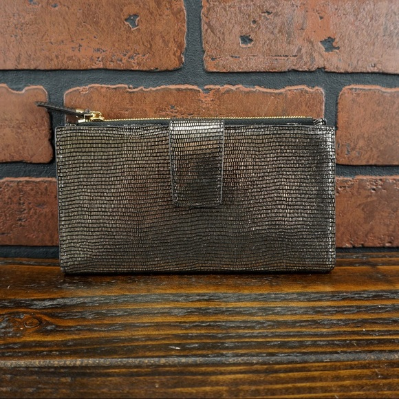 Anthropologie Handbags - ANTHRO Neuville Spender Wallet Lezard Bronze NWT